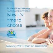 Siamo aperti i week end di febbraio